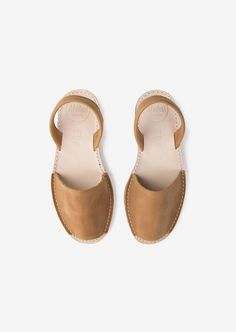 Sandales camel en cuir pour femmes| Alohas
