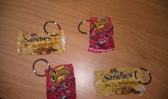 recycled chip bag key chain