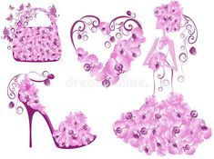 Purple Love, Painted Shoes, Baby Shower, Illustration, Women Accessories, Royalty, Dress Shoes, Womens Fashion, Bag