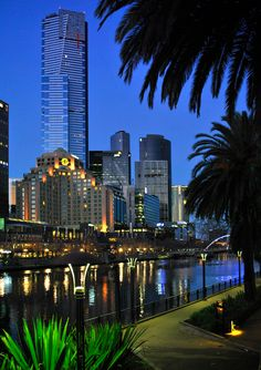 A photographic portrait of Melbourne with eye-catching images that celebrate Melbourne's street art, architecture and seasonal moods. Melbourne Tourism, Melbourne Australia, Australia Travel, Melbourne Skyline, Places In Melbourne, Perth, Brisbane, Places To Travel, Places To See