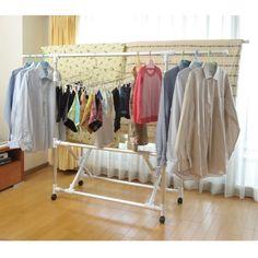 キャスター付きアルミ製折りたたみ伸縮室内布団干し|通販のベルメゾンネット Wardrobe Rack, Laundry Rooms, Furniture, Home Decor, Gifts, Laundry Room, Clotheslines, Household, Decoration Home
