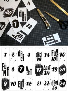 advent calendar hang tags - freebie
