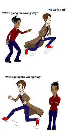 I loved this scene from Doctor Who, so I made a cartoon. =)