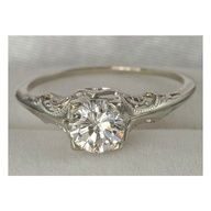 vintage and simple engagement rings - Google Search