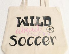 Soccer Tote Bag Bags And Purses Tote Bags Natural Canvas Tote
