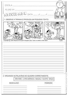 Lipitipi- Atividades e Projetos Fundamental I: Atividade Tirinha Produção Textual e Gênero do Substantivo