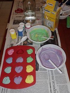 Unconventional Mom: Gessi colorati, fatti in casa!