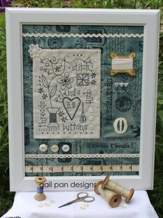 """My friend, the amazing Gail Pan Designs, is coming all the way from Australia to guest teach at the shop... sew we thought why not have her teach 2 CLASSES!!! On Saturday May 23rd from 10:30 am 'til 4:30 pm Gail will be instructing us on her NEW project """"Vintage Sewing Collage"""" Finished size about 14"""" by 17"""" ... The $70 class fee includes the pattern, instruction & lunch!!! Call or stop by the shop to sign-up"""