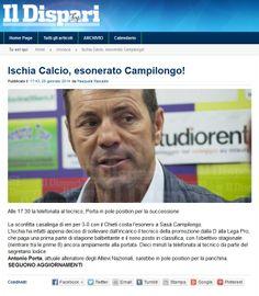 #Ildispari quotidiano - #Ischia #esonerato #Campilongo