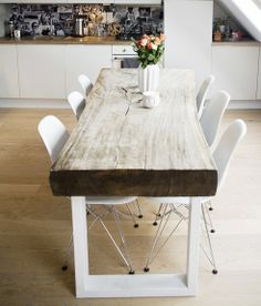 dining table. table top is solid wood Suar, a sustainable wood material that is widely used for furniture in Bali.
