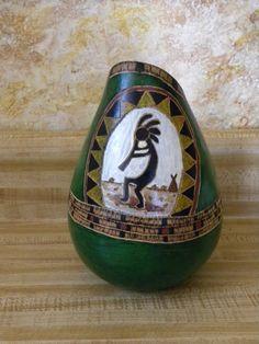 Kokopelli Gourd Vase by JaneEHathaway on Etsy, $55.00