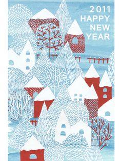 冬の村 | デザインワーク | 点と線 模様製作所                                                                                                                                                      もっと見る