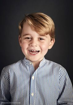Kensington Palace (@KensingtonRoyal) on Twitter: New Official Photo of Prince George of Cambridge taken to mark his 4th birthday, July 21, 2017 (b. July 21, 2013); photo by Chris Jackson of Getty