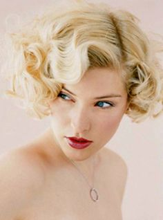 vintage curls wedding hairstyle