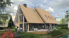 Een prachtig nieuw ontwerp voor een woning met Riet. De speelse vorm en het materiaalgebruik zorgen voor een frisse look.