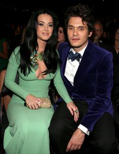 Katy Perry and John Mayer at the 2013 Grammy Awards