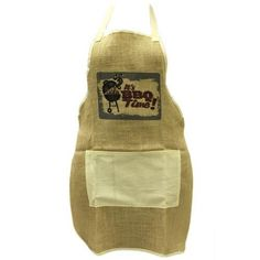 His & Hers 1 x Soft Jute Apron - BBQ KING - 1 x Soft Jute Apron - BBQ TIME