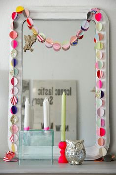 diy garland with a neon touch