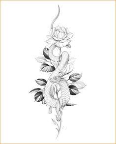 Tattoo Roman, Lotusblume Tattoo, Tattoo Drawings, Sanskrit Tattoo, Hamsa Tattoo, Snake Tattoo, Chest Tattoo, Serpent Tattoo, Dragon Tattoo Drawing