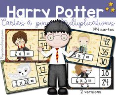 Harry Potter 144 Cartes à clip - Multiplications - Classe Harry Potter - Harry Potter Classroom