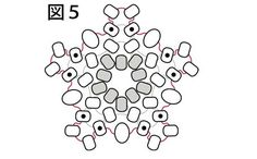 small flower - 5 ビーズの小花・作り方図5