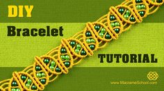 How to make a Macrame Spring Bracelet with beaded leaves. This bracelet looks very lovely and its not hard to make, perfect to wear everyday and for any occa...