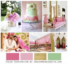 Pistachio pinks and greens ...