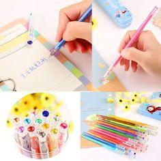 12x-Gelschreiber-Tintenroller-Gelschreiber-Fein-Kugelschreiber-Pen-Dekostift-Neu