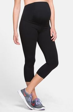 Free shipping and returns on Ingrid & Isabel® Maternity Capri Pants at Nordstrom.com. Stretchy, comfortable workout capri pants cut from a breathable, moisture-wicking fabric feature an innovative Crossover Panel™ that provides enhanced lower-back support and can be folded up or down to adapt to your changing figure.