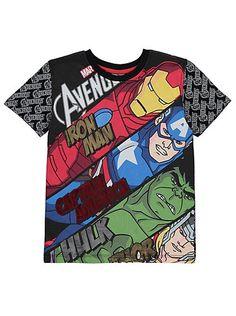 Marvel Avengers Diagonal T-Shirt Boys Sleepwear, Boys Pajamas, Pyjamas, Discount Kids Clothes, Marvel Clothes, Kids Tops, Boys Wear, Cartoon Kids, Boys T Shirts