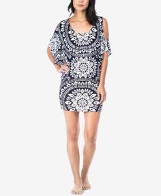 Trina Turk Indochine Tunic Swim Cover-Up Swimwear Cover Ups, Swimsuit Cover Ups, Trina Turk Swim, Swim Cover Up Dress, Womens Tankini, Boat Neck Tops, One Piece Bikini, Top Designer Brands, Fashion Brands