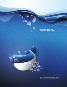 Under the sea Under The Sea, Diving, Nursery, Inspirational, Illustrations, Movie Posters, Image, Day Care, Scuba Diving