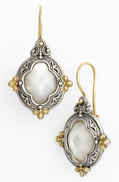 Free shipping and returns on Konstantino 'Selene' Drop Earrings at Nordstrom.com. Old-world Grecian details and radiant cushion-cut mother-of-pearl compose fit-for-a-goddess earrings.
