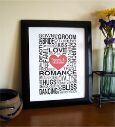#Personalized #Wedding or Love Print by Gene Ploss | Hatch.co
