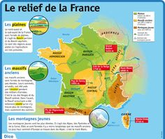 Fiche exposés : Le relief de la France