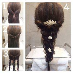 Wedding Hairstyles: A 7 Step Plan For Perfect Hair Messy Hairstyles, Pretty Hairstyles, Wedding Hairstyles, Hair Arrange, Hair Setting, Hair Dos, Prom Hair, Hair Hacks, Bridal Hair