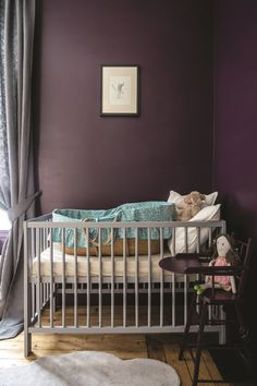 [New] The 10 Best Home Decor (with Pictures) - In Jan we predicted that earth tones are in for Im going to say YESSS and see the proof going up now in Stories . But also are white walls are out? Such a lush pic from color is called Pelt and Im into it . Decor, Purple Accent Walls, Purple Nursery, Dining Room Shelves, Decor Interior Design, Paint Colors, Farrow Ball, Farrow And Ball Bedroom, Beautiful Nursery