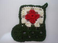 Crear con hilos...: Botitas navideñas a crochet