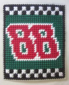 Dale Earnhardt Jr. 88 Nascar tissue box cover in plastic canvas PATTERN ONLY by AuntCC for $2.50