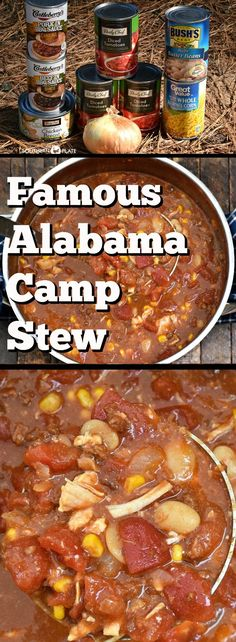 This Famous Alabama Camp Stew recipe is as old as the hills and is often known as Brunswick stew outside of my stomping grounds. Cooker Recipes, Crockpot Recipes, Soup Recipes, Easy Recipes, Dutch Oven Cooking, Dutch Oven Recipes, Alabama, Camping Meals, Recipes