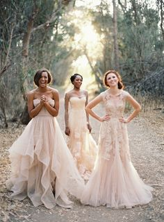 Blush Bridesmaid Gowns.  Why not?