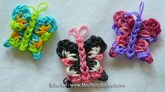 DIY Rainbow Loom Butterflies