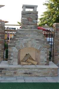 outdoor fireplace..im building this myself this summer if i have too....
