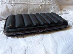 Antique leather ammunition hunting bag pocket French genuine shark skin ammunition pocket wallet for game, RARE antique ammunition box by MyFrenchAntiqueShop on Etsy