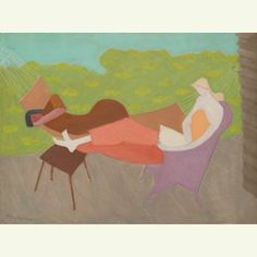 Milton Avery March and Sally Outdoors, 1950 Estimate: 2,000,000-3,000,000 USD American Art | Sotheby's