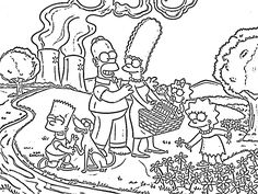 The Simpsons Coloring Pages | wallpaperxy.com
