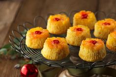 We put everything you like about pineapple upside-down cake into these cute cupcakes, plus mixed in a little coconut for a little tropical flavor.