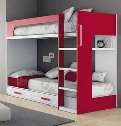 Creative Kids Beds With Storage For Small Room: Modern Bunk Bed Design Furniture…