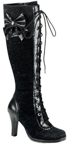 Tall Victorian Lace  Boots  http://www.goodgoth.com/Tall-Victorian-Lace-Boots-p731.html