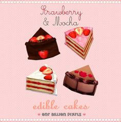 One Billion Pixels: Edible Strawberry & Mocha Cakes